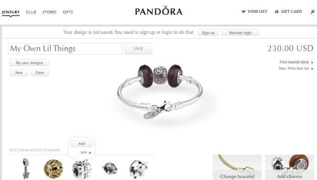 Wish List : My own design Pandora Bracelet